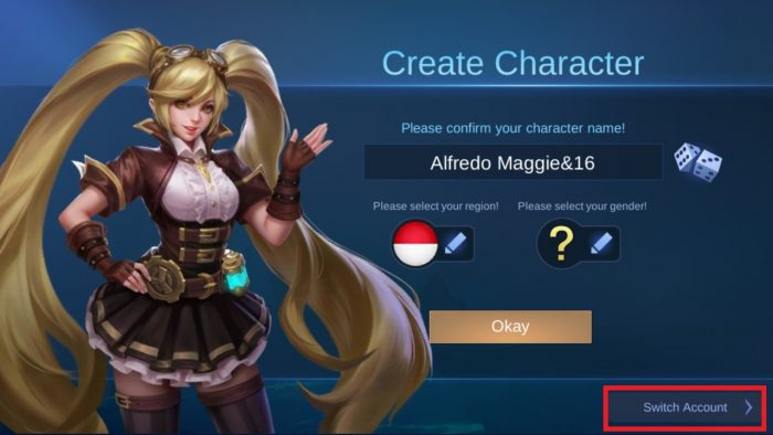 mobile legend switch account name